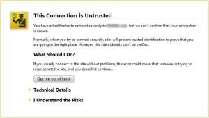 Firefox证书警告